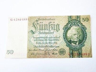 Reichsbanknote 50 Fünfzig Reichsmark 1933 Reichsbankdirektorium Berlin Banknote