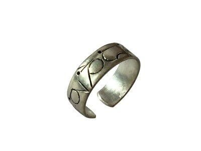 Tibetan silver plated Om Mani Padme Hum Healing Ring