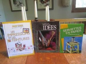3  livres  Bricolage   7 ans  à 77 ans Garderie  - PROF Je POSTE