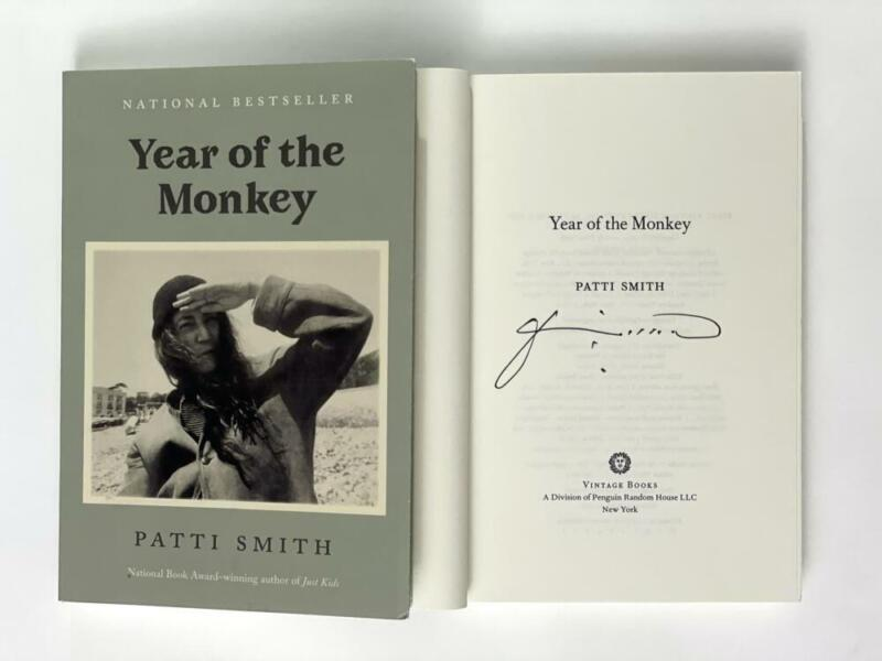 """PATTI SMITH SIGNED AUTOGRAPH """"YEAR OF THE MONKEY"""" BOOK - PUNK ROCK ICON! HORSES"""
