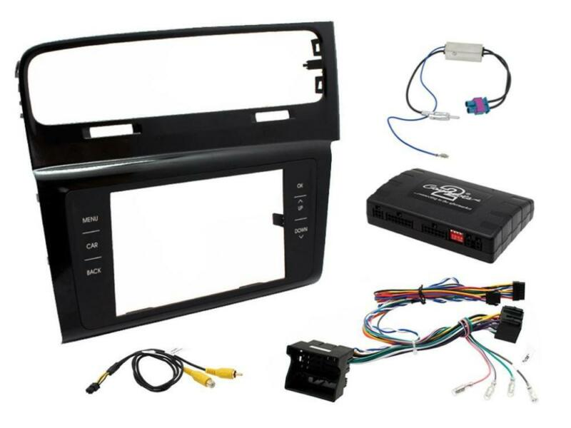 Connects2 CTKVW09 VW Golf MK7 2013 On Double Din Stereo Facia Fitting Kit RHD