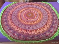 Indian Round Cotton Mandala Table Cloth Tapestry Bedspread Sofa Throw Wall Hanging