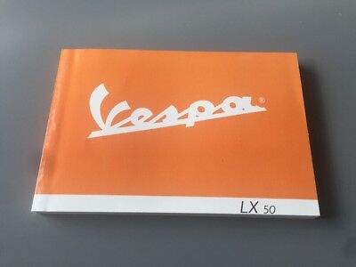 VESPA LX50 SCOOTER MOTORBIKE OWNERS MANUAL RIDERS HANDBOOK MOTORCYCLE BIKE LX 50