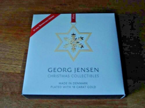 2017 SNOWFLAKE CHRISTMAS MOBILE 1987-2017 18 carat gold plated GEORG JENSEN. NIB