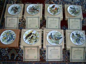 SET OF 8 EUROPEAN SONGBIRD PLATES WORLD WILDLIFE FUND (GERMAN) London Ontario image 1