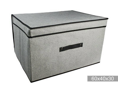 Scatola abiti salvaspazio per armadio contenitore vestiti in tessuto 60x40x30 cm