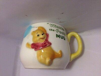 Vintage 1964 raised WINNIE-THE-POOH mug/cup WALT DISNEY Rare made in Japan