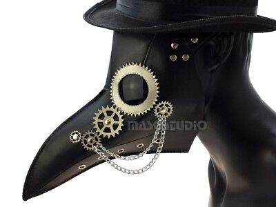 Plague Doctor Bird Raven Beak Nose Mask Costume Steampunk Halloween Prom Party