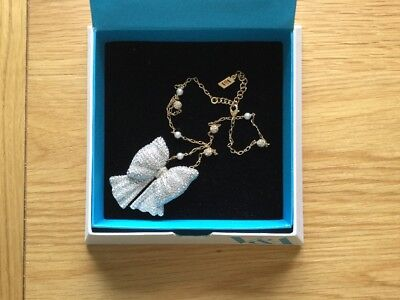 V&A Museum Bow Diamanté Pendant Necklace / Brooch