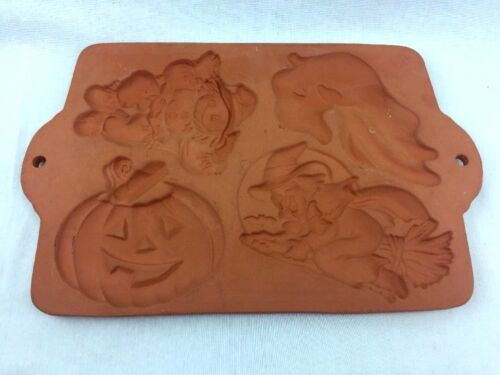 Cookie Press Fall Terracott Scarecrow Pumpkin Witch Ghost Halloween Thanksgiving