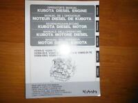 Kubota V3300 V3800 Series Diesel  Operation/Maintenance  Manual