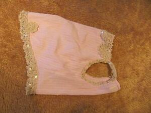 Dog Clothing - Pink Summer Dress with Lace Pearls Sequins Strathcona County Edmonton Area image 3