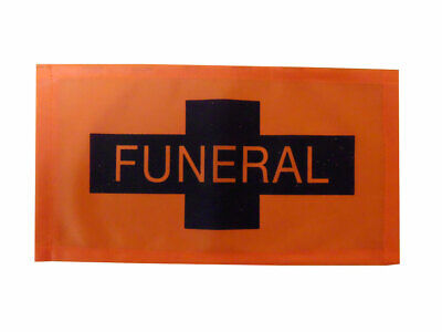 Orange And Black Funeral Flag Hearse Processional Banner