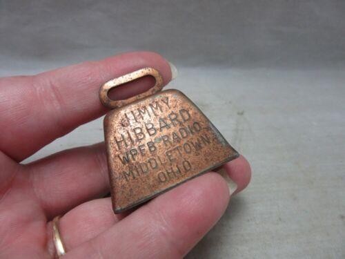 Jimmy Hibbard WPFB Radio advertising cow bell. Middletown, OH