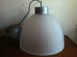 Industrial Vintage Style Frosted Glass Ceiling Pendant IKEA Bexley Rockdale Area Preview
