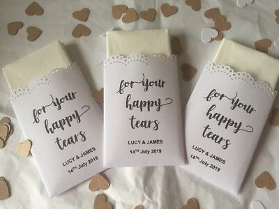 Personalised Handmade Tissue Packs For Your Happy Tears Brown/White & 2 - Personalized Tissue Packs