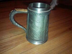 Franklin Mint World War 2 50th Anniversary Pewter Beer Stein