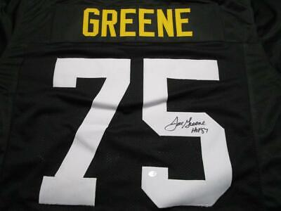 MEAN JOE GREENE HAND SIGNED AND AUTHENTICATED PITTSBURGH STEELERS -