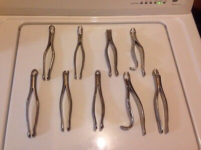 Lot Of 9 Quality Dental Forceps Patterson Various Brands 30 Day Warranty