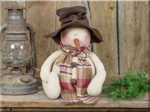 Forest Winter Snowman Christmas Fabric Doll Country Farmhouse Whimsical Decor