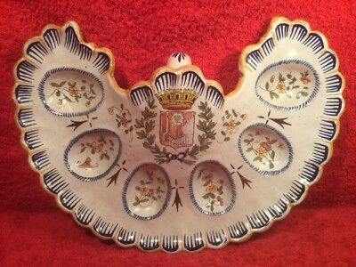 AntiqueFrench Faience Oyster or Egg Serving Platter, ff703