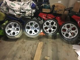 """BMW X5 X6 20"""" Alloy Wheels and Nearly New Tyres"""