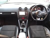 AUDI A3 2.0 TDI S LINE BLACK EDITION DIESEL SAT NAV LEATHER