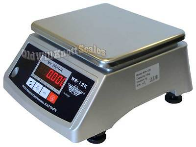 My Weigh Wr-12k Water Resistant Ip66 Washdown Scale Digital Balance 12kg X 1g