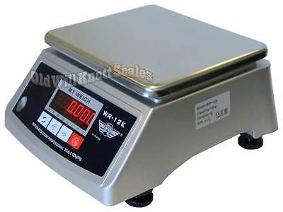 My Weigh Wr 12K Water Resistant  Ip66  Washdown Scale Digital Balance 12Kg X 1G