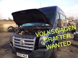Volkswagen crafter van wanted!!!