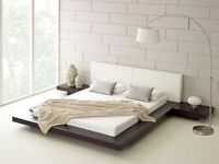 King size contemporary style bed