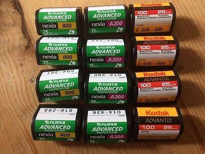 12 Rolls Fuji & Kodak APS Film