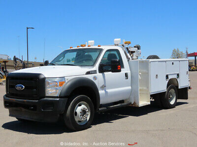 2012 Ford F450 4WD Service Mechanics Truck Crane Diesel A/T 4x4 bidadoo