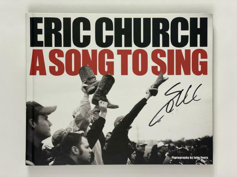 """ERIC CHURCH SIGNED AUTOGRAPH """"A SONG TO SING"""" PHOTO BOOK - COUNTRY MUSIC STUD"""