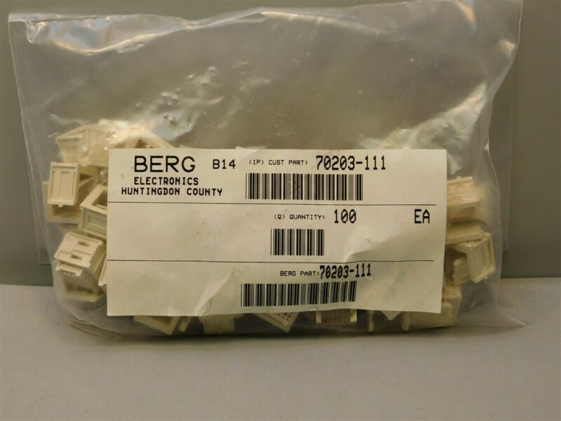 100 FCI Berg 70203-111 Metrel Series Modular Connector Shrouds 4 Rows 6P/Row