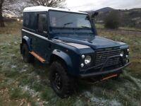 *** Landrover defender 90 tdi 300 galvanised chassis Swap px car van ****