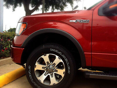 Owner For 09-14 Ford F150 Matte Black Fender Flare Wheel Protector OE Style Paintable