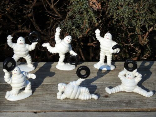 Michelin Man Cast Iron Metal Figurine Set - Bibendum - Tires - Paperweight