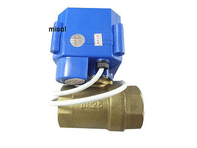 Motorized Ball Valve 12v Dn25 Bsp 1 Manual Switch 2 Way Electrical Valve