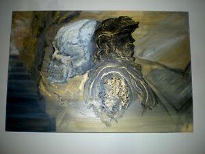 - ORIGINAL PAINTING / ARTWORK - Bust of Leonardo