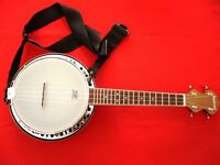 Ashbury AB-34 Ukulele Banjo, Resonator, Walnut - Total Package original cost £375+ - as new