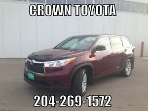 2014 TOYOTA HIGHLANDER LE AWD V6! LOCAL TRADE IN @ CROWN TOYOTA