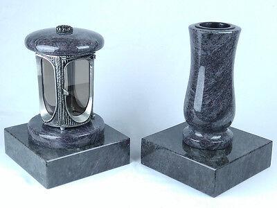 Grabschmuck Granit Grablampe Grabvase Grablaterne Grableuchte Friedhofslaterne