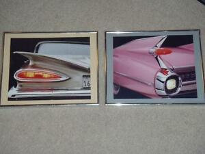 Framed print FINS 1959 Caddy & 59 Chevy Impala
