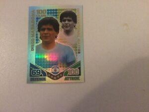 MATCH ATTAX WORLD CUP 2010 100 CLUB CARD MARADONA MINT