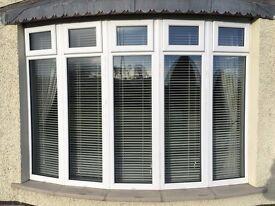 11No. DOUBLE GLAZED PVC WINDOWS & 8No. BLINDS CREAM VENETIAN BLINDS