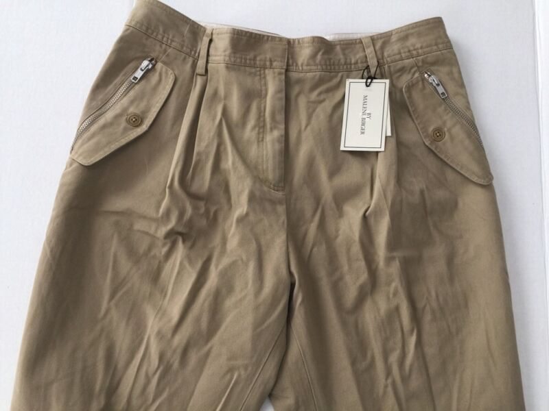 Malene Birger Ballak tan zip pocket pants size 38 US 6  $295 new w/tags
