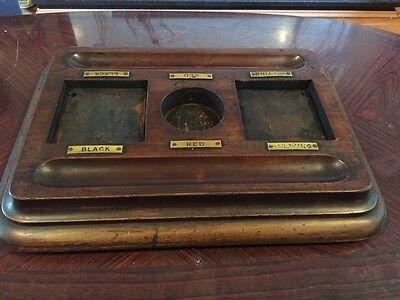 Stunning Antique Heavy Wooden Desk Stand