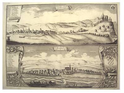 1 Orig Kupferstich Beckmann 1710 BALLENSTEDT  HOYM /GA