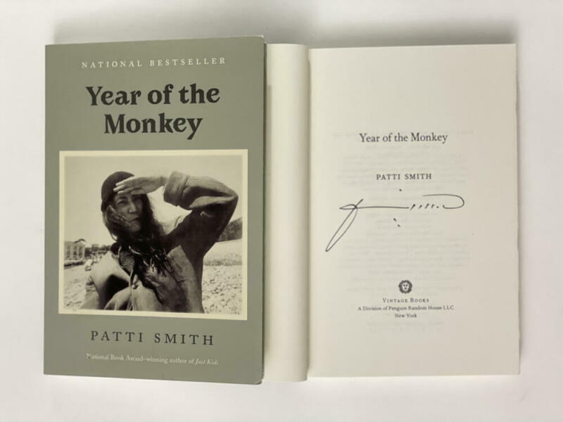 """PATTI SMITH SIGNED AUTOGRAPH """"YEAR OF THE MONKEY"""" BOOK - PUNK ROCK LEGEND HORSES"""